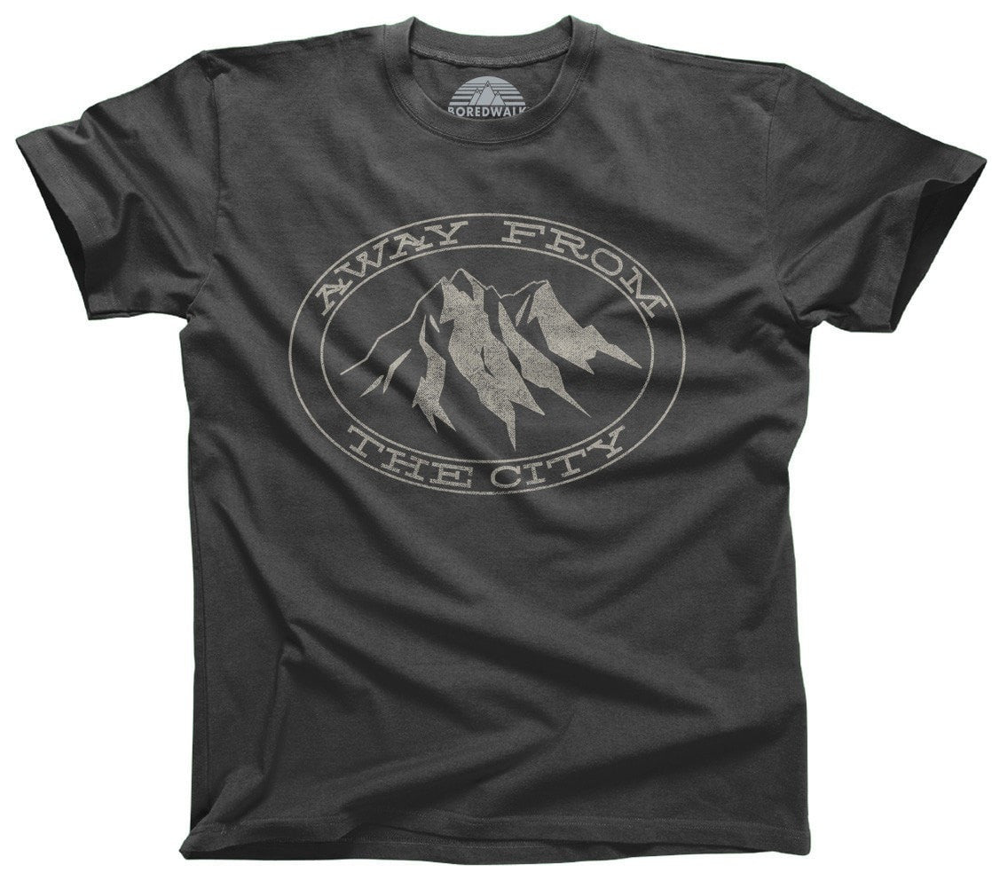 Men's Away From the City T-Shirt Hiking Mountains Camping
