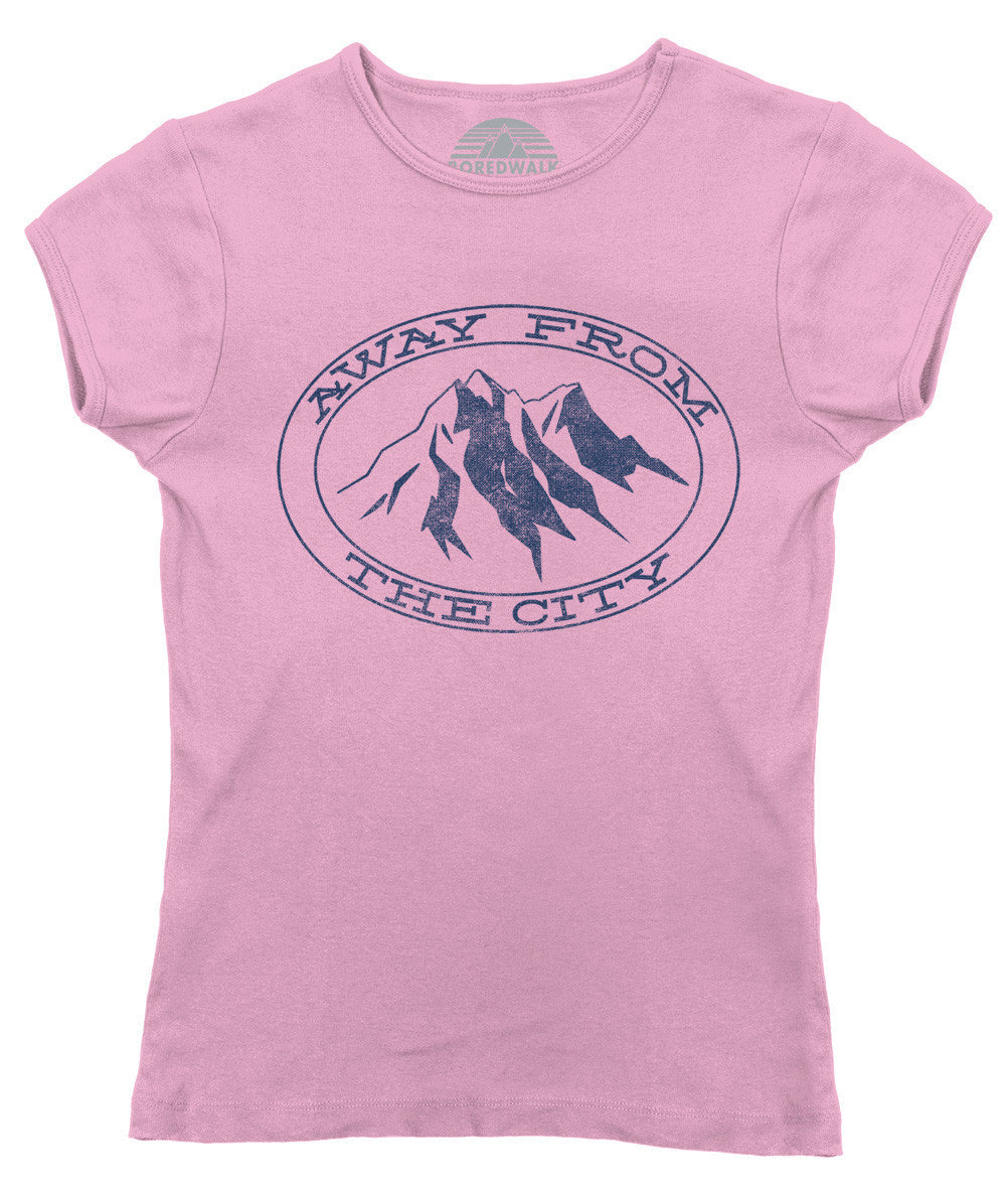 Women's Away From the City T-Shirt Hiking Mountains Camping