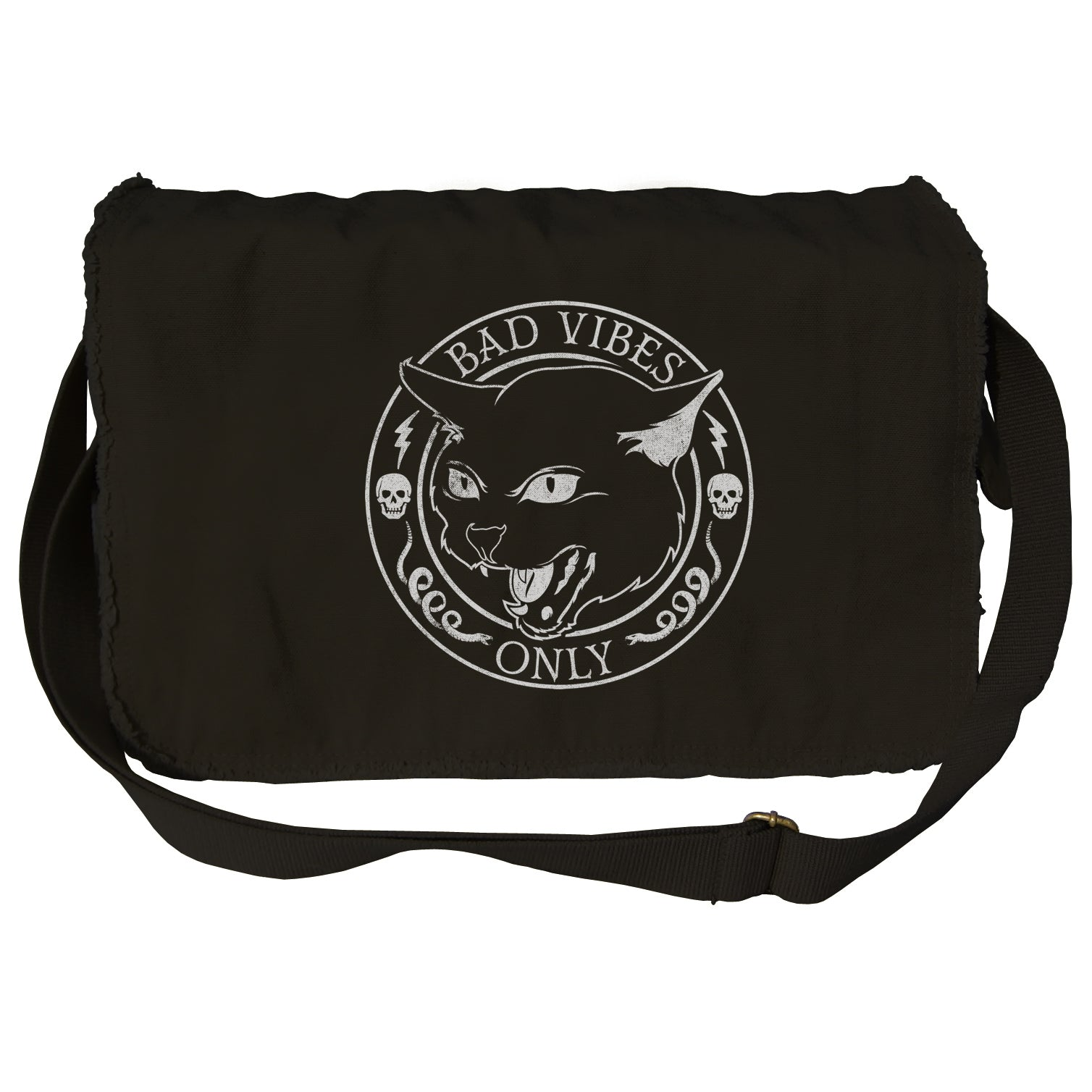 Bad Vibes Only Messenger Bag