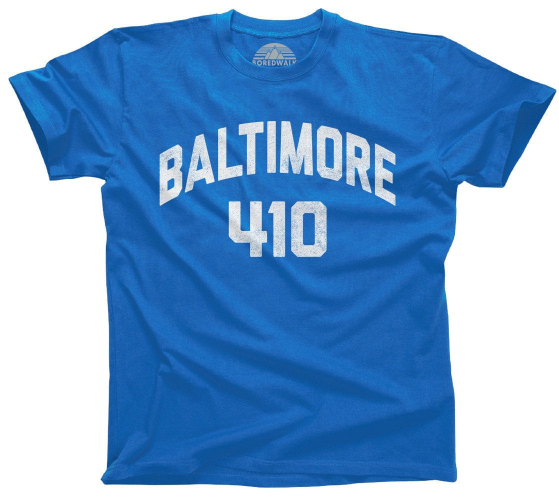 Men's Baltimore 410 Area Code T-Shirt