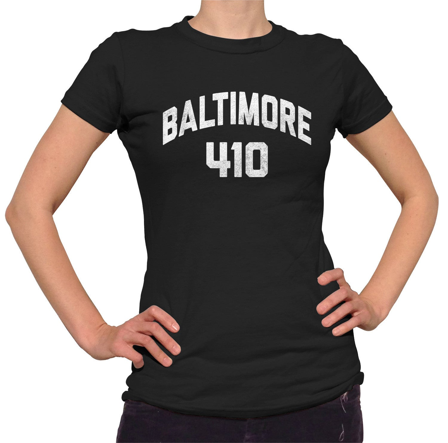Women's Baltimore 410 Area Code T-Shirt