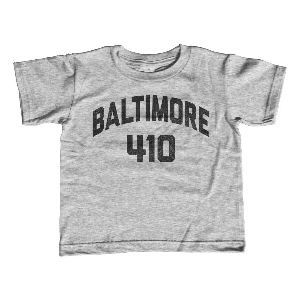 Boy's Baltimore 410 Area Code T-Shirt