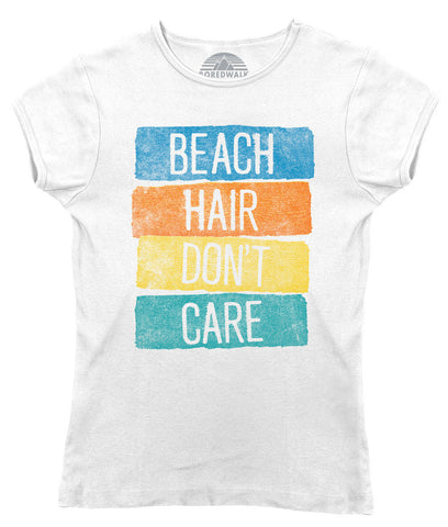 Women's Beach Hair Don't Care T-Shirt Summer Vacation