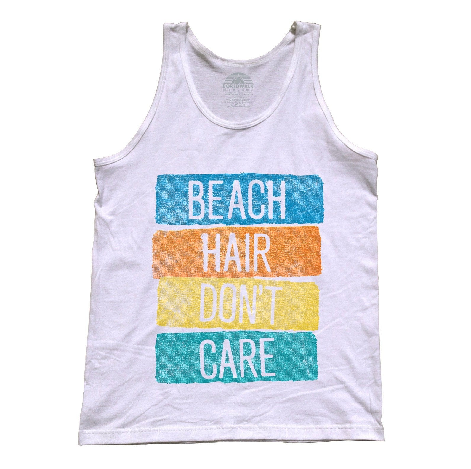 Unisex Beach Hair Don't Care Tank Top Summer Vacation
