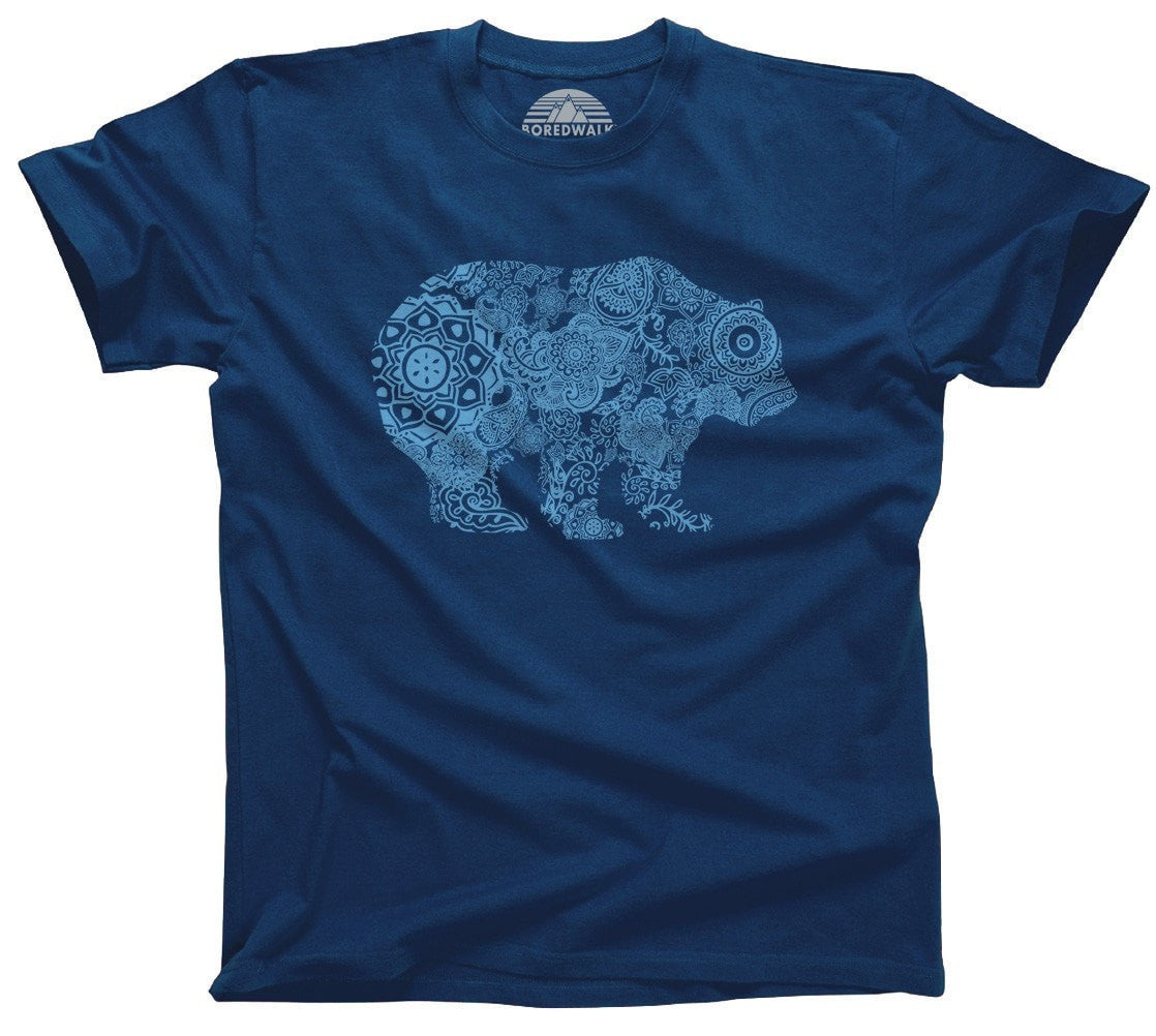 Men's Mandala Bear T-Shirt