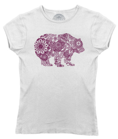 Women's Mandala Bear T-Shirt