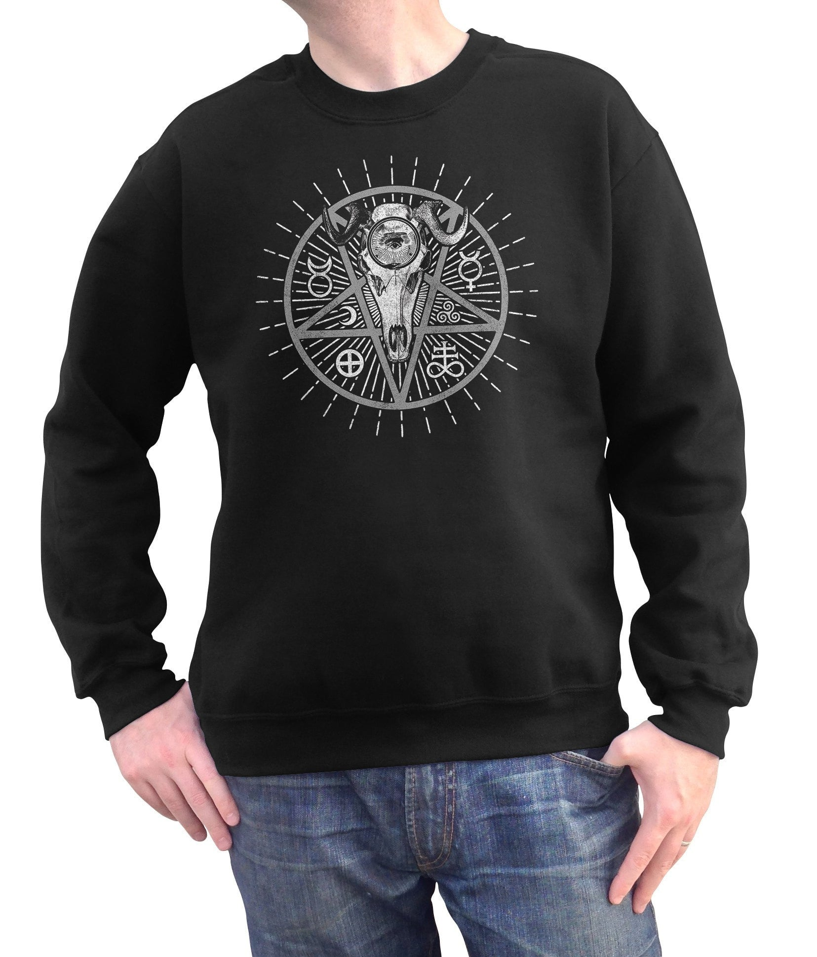 Unisex Alchemical Pentagram Collage Sweatshirt