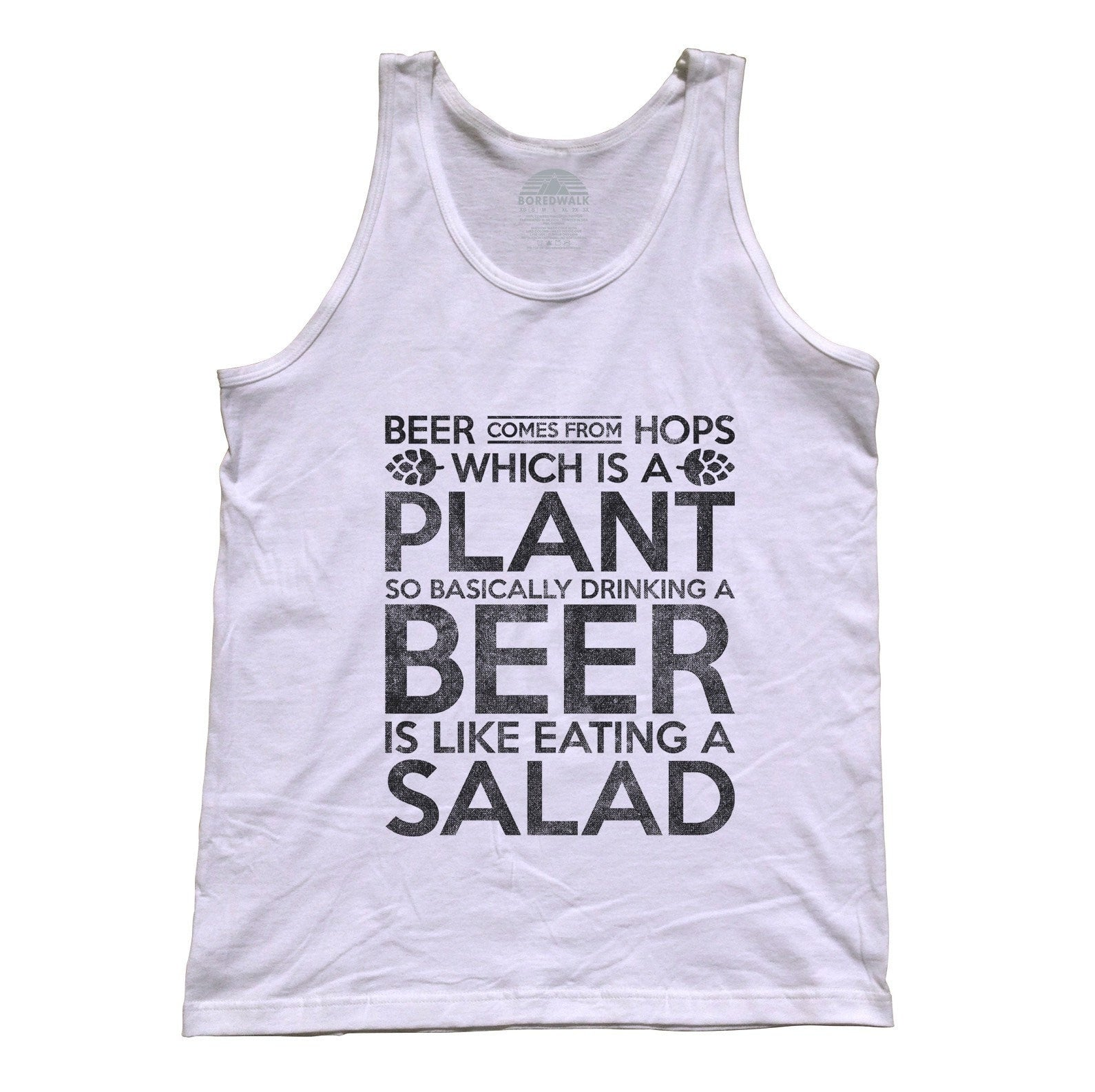Unisex Drinking Beer is like Eating Salad Tank Top