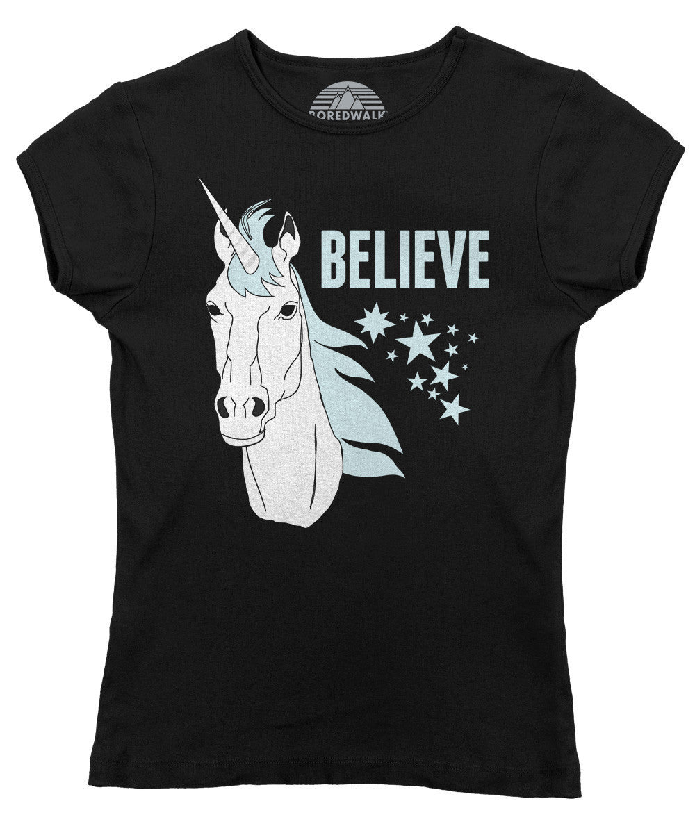 Women's Believe In Unicorns T-Shirt