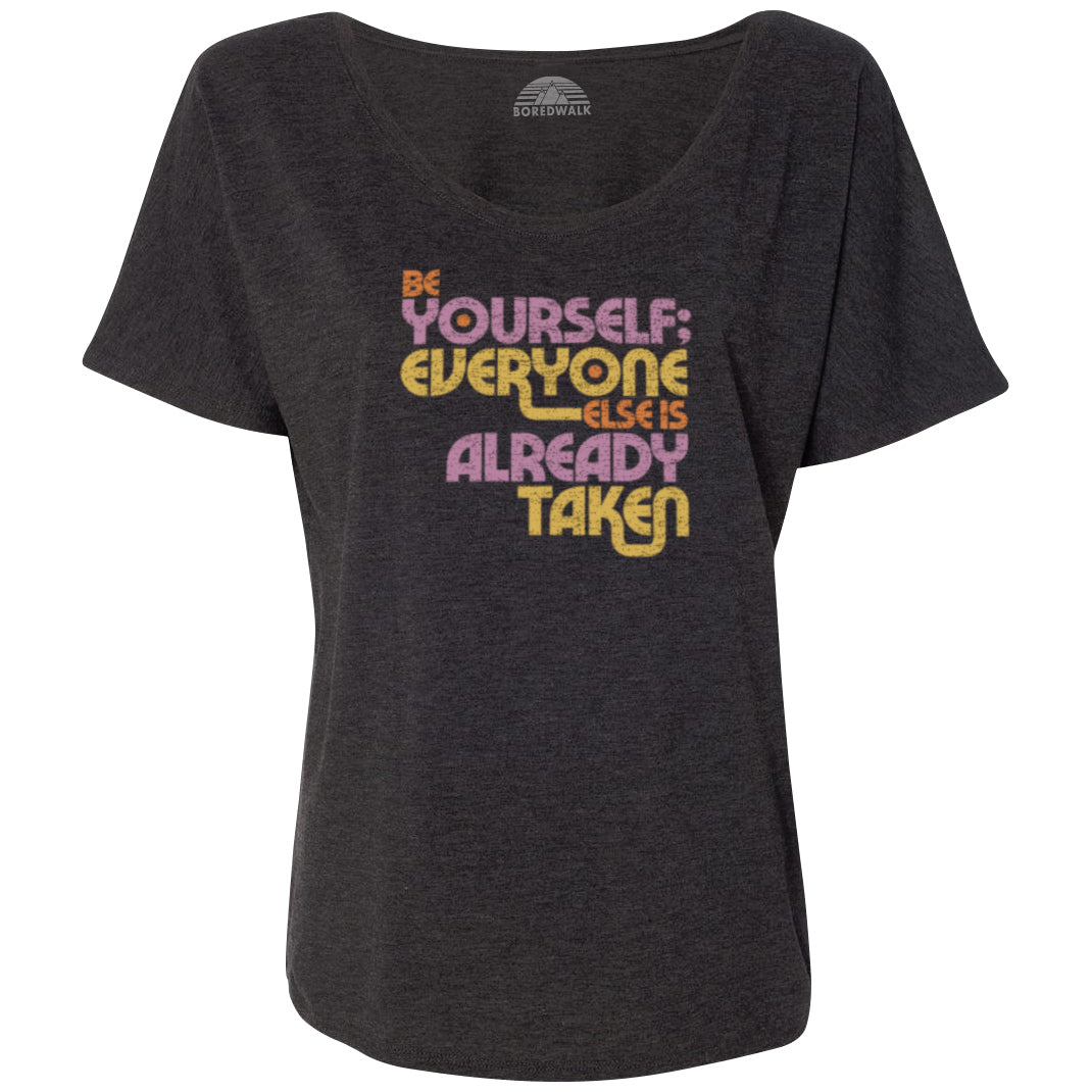 Women's Be Yourself Scoop Neck T-Shirt - Oscar Wilde