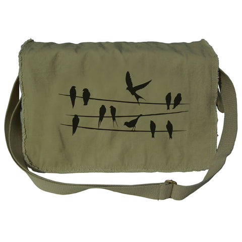 Birds on a Wire Messenger Bag