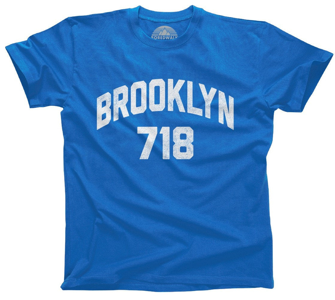 Men's Brooklyn 718 Area Code T-Shirt