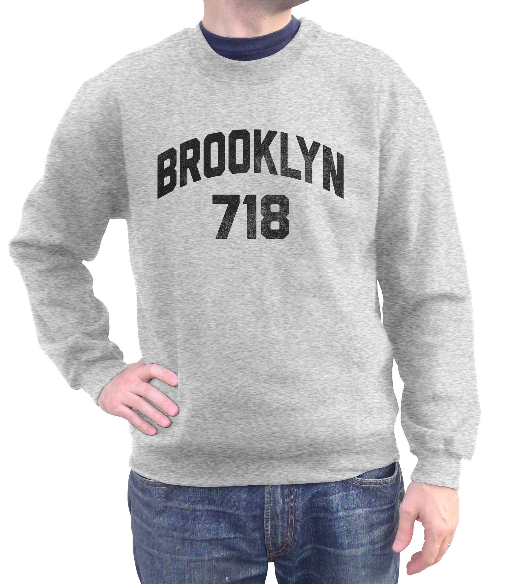 Unisex Brooklyn 718 Area Code Sweatshirt