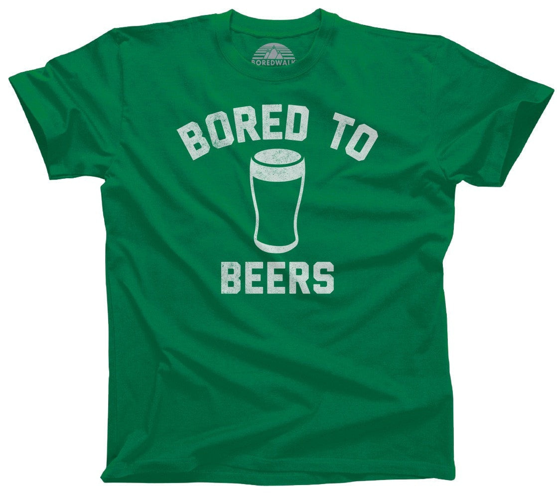 Men's Bored to Beers T-Shirt Funny Drinking Shirt