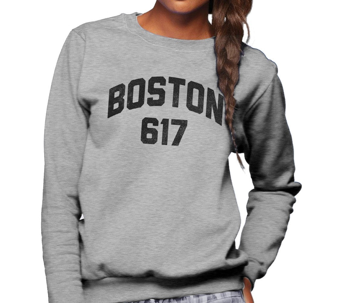 Unisex Boston 617 Area Code Sweatshirt