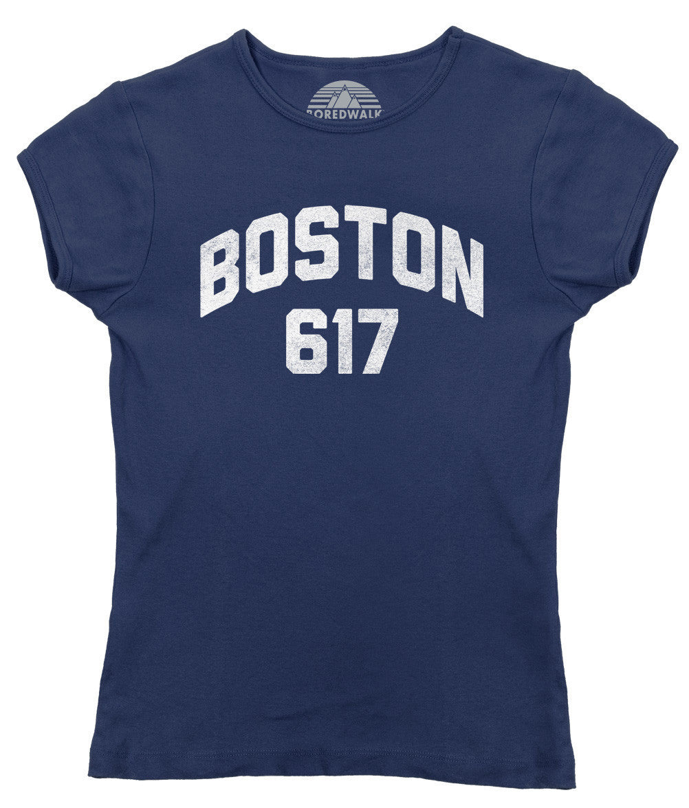 Women's Boston 617 Area Code T-Shirt