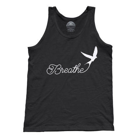Unisex Breathe Tank Top Minimalist Bird