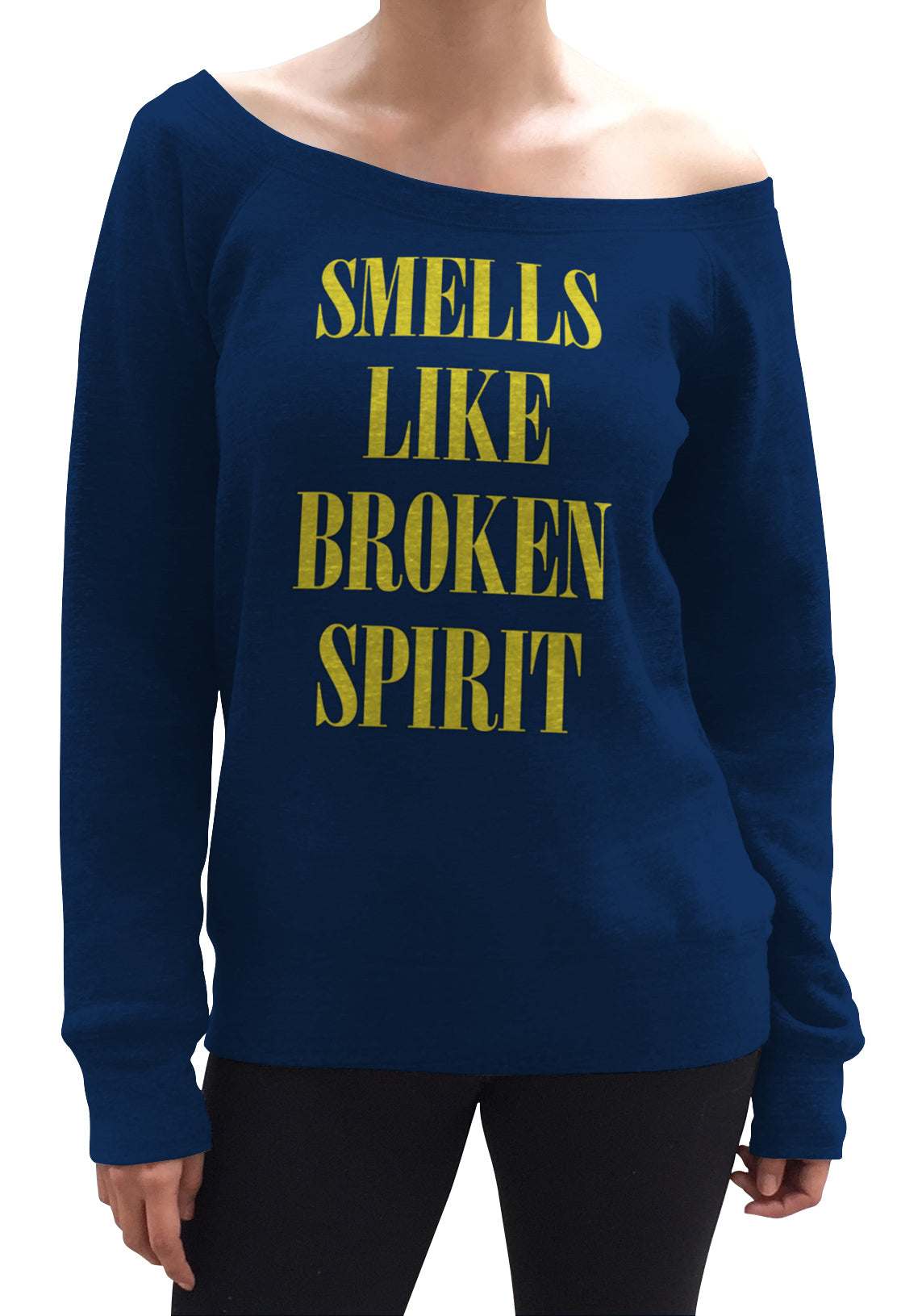 Women's Smells Like Broken Spirit Scoop Neck Fleece