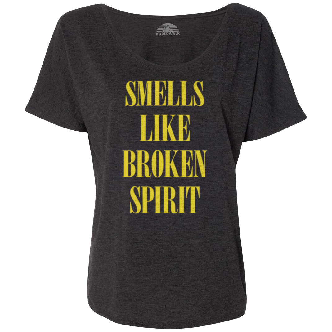 Women's Smells Like Broken Spirit Scoop Neck T-Shirt