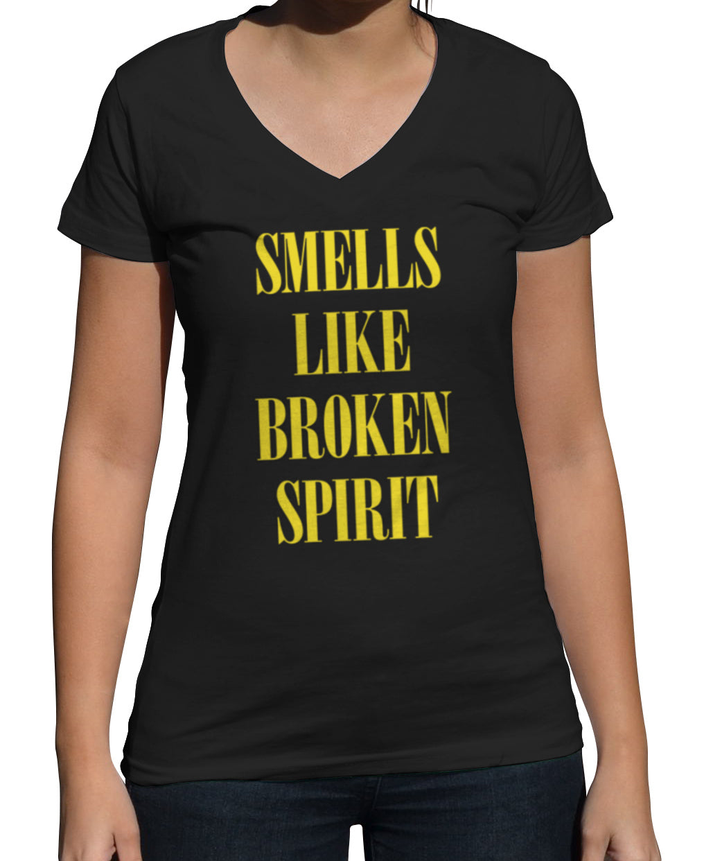 Women's Smells Like Broken Spirit Vneck T-Shirt