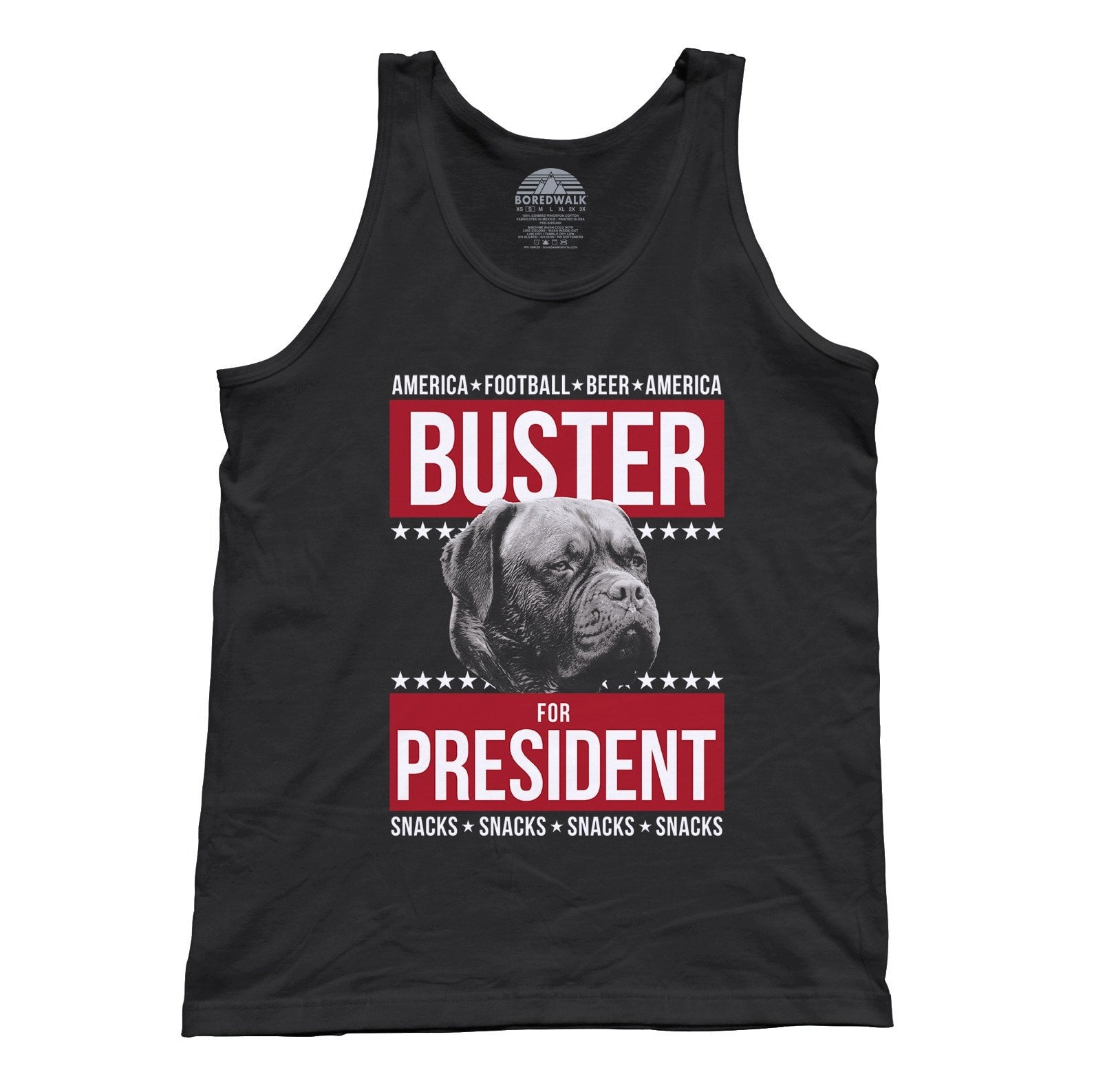 Unisex Buster for President Tank Top Election Political Funny Dog