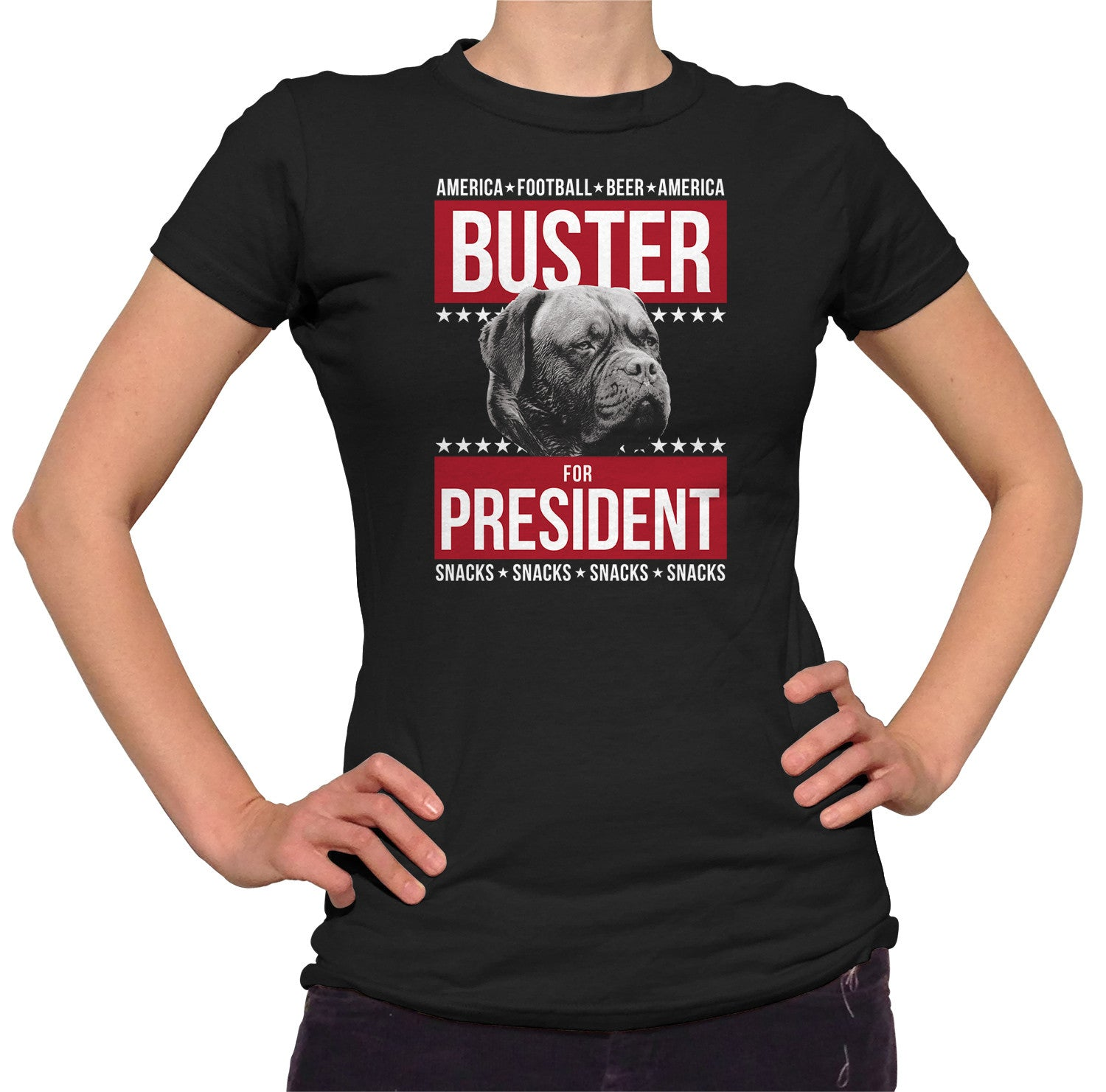 Women's Buster for President T-Shirt - Election Political Funny Dog