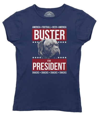 Women's Buster for President T-Shirt - Juniors Fit - Election Political Funny Dog
