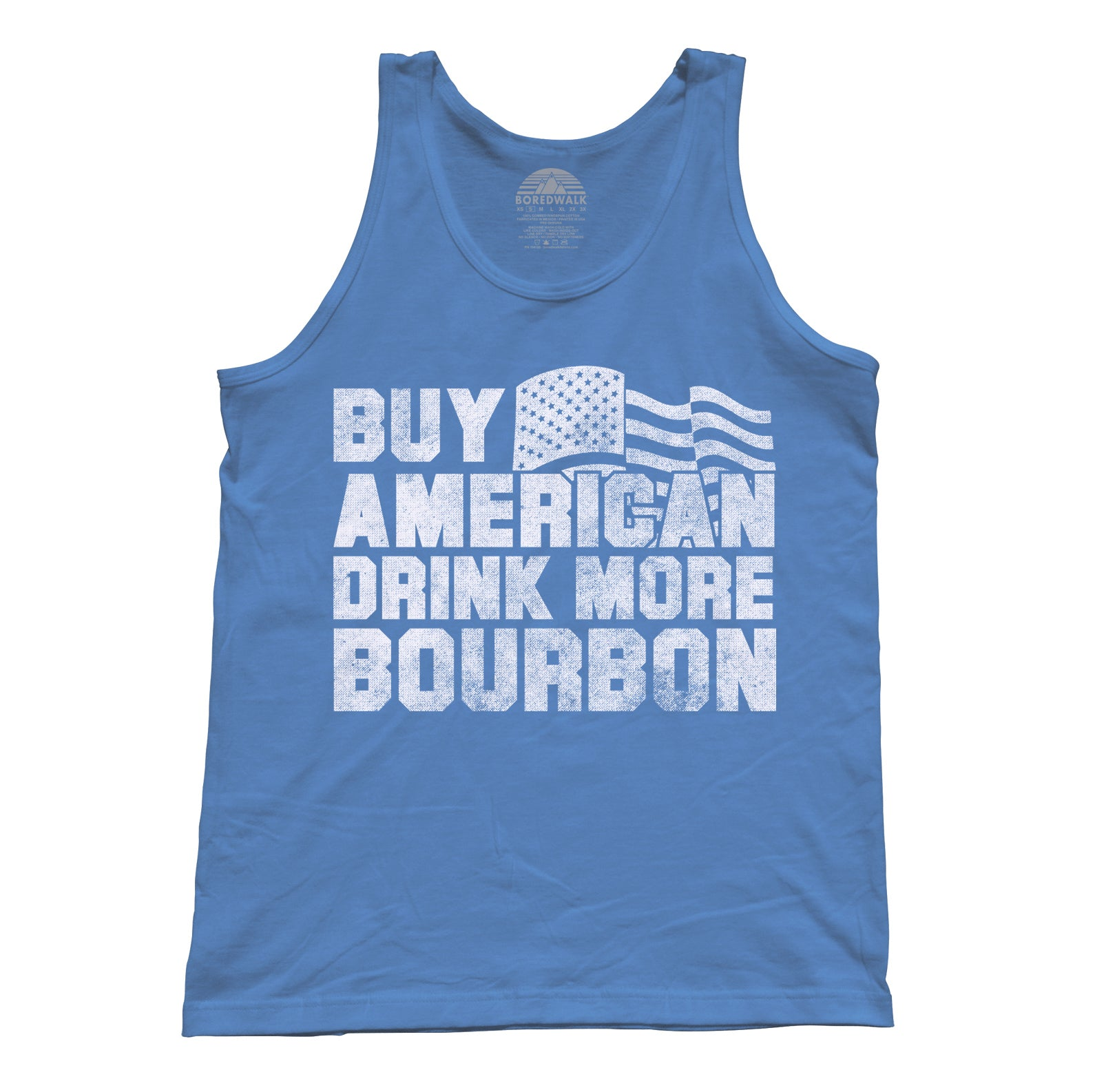 Unisex Buy American Drink More Bourbon Tank Top