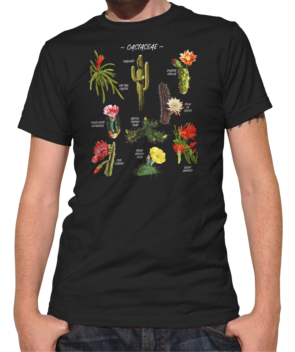 Men's Cactus Botanical Chart T-Shirt