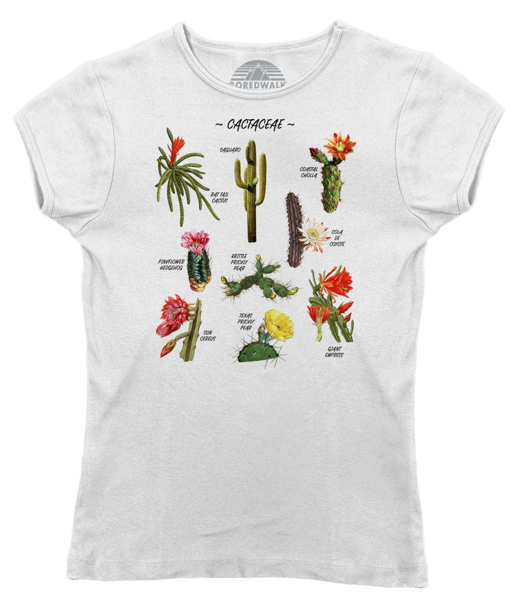 Women's Cactus Botanical Chart T-Shirt
