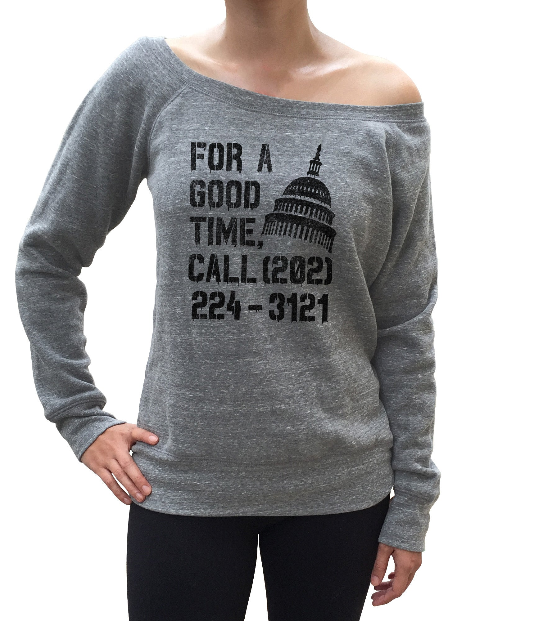 Women's For a Good Time Call Congress Scoop Neck Fleece - Activist Shirt