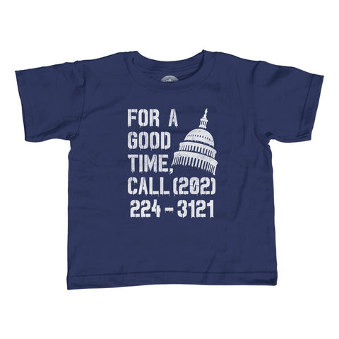 Boy's For a Good Time Call Congress T-Shirt Activist Shirt