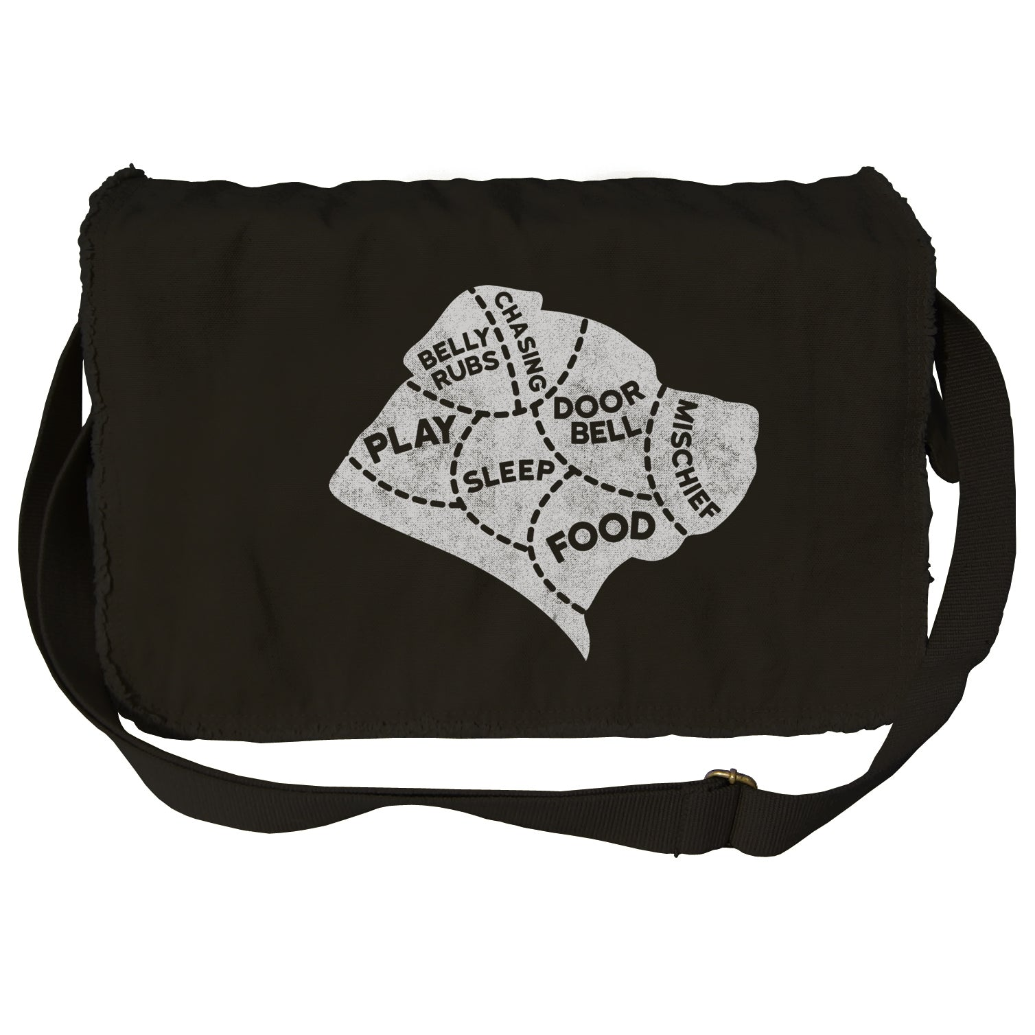 The Mind of A Dog Messenger Bag