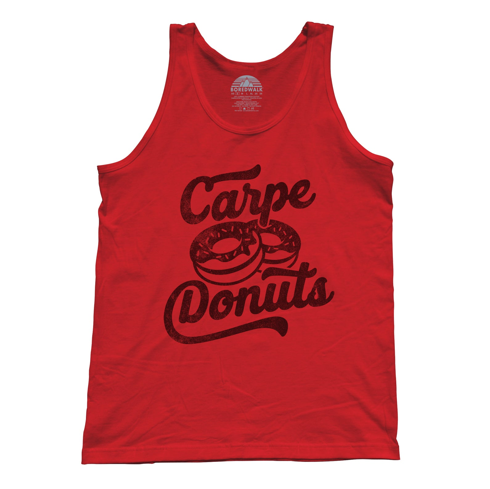 Unisex Carpe Donuts Tank Top - Funny Donut Shirt