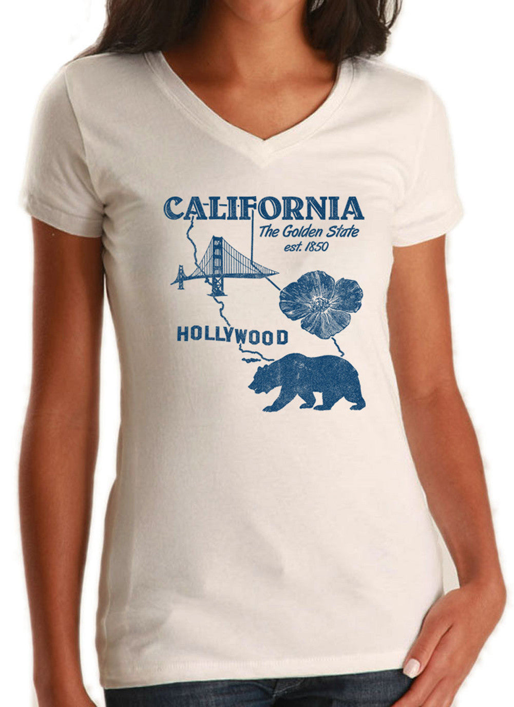 Women's California Vneck T-Shirt