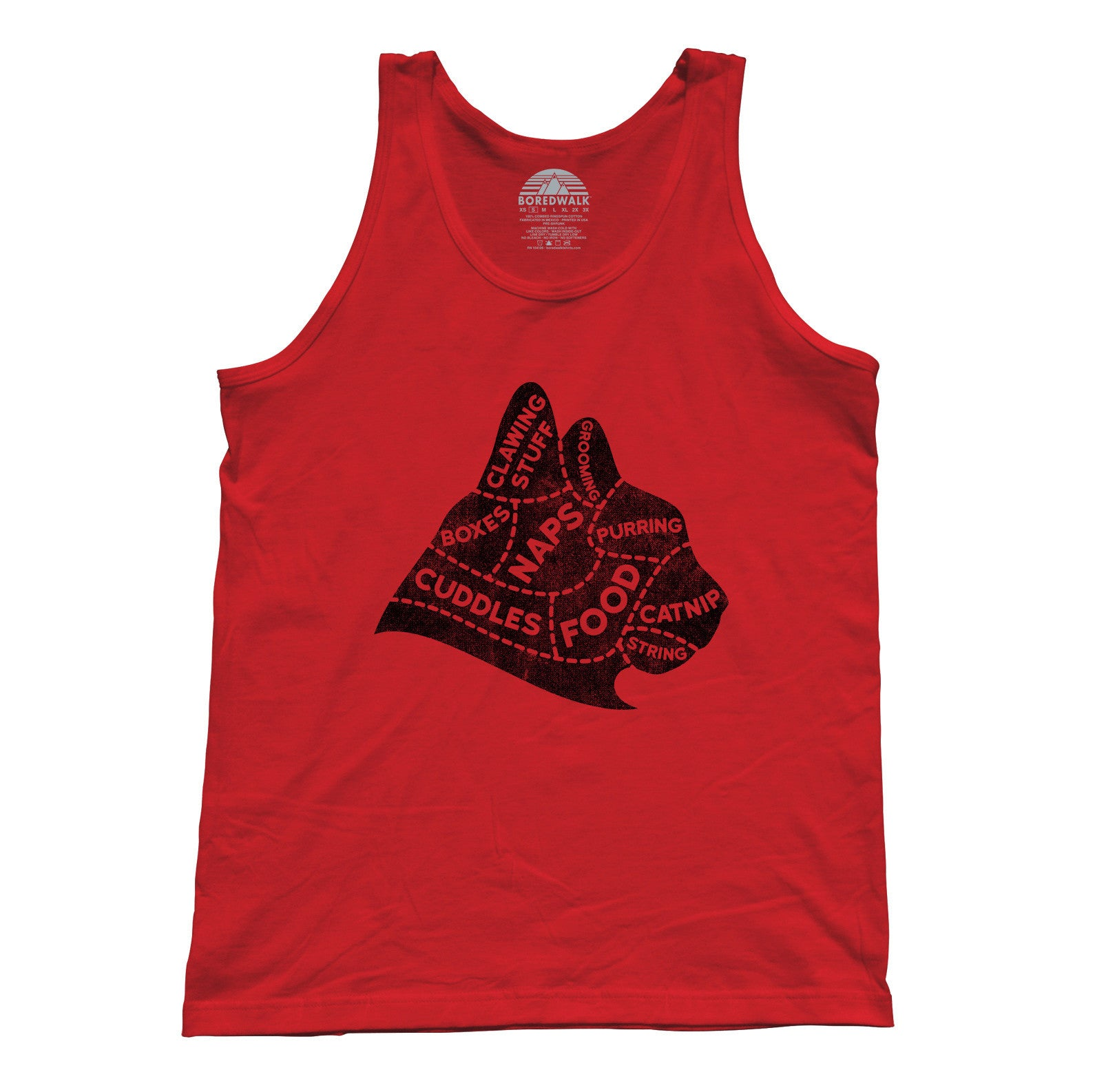 Unisex The Mind of A Cat Tank Top