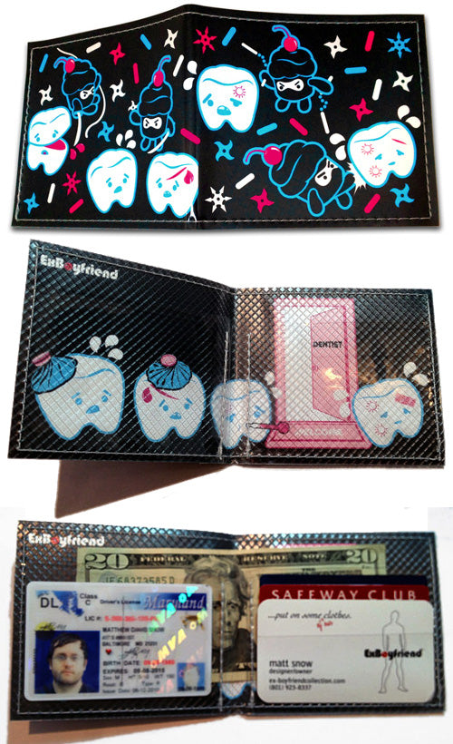Cupcake Ninjas Vs Teeth Wallet - By Ex-Boyfriend