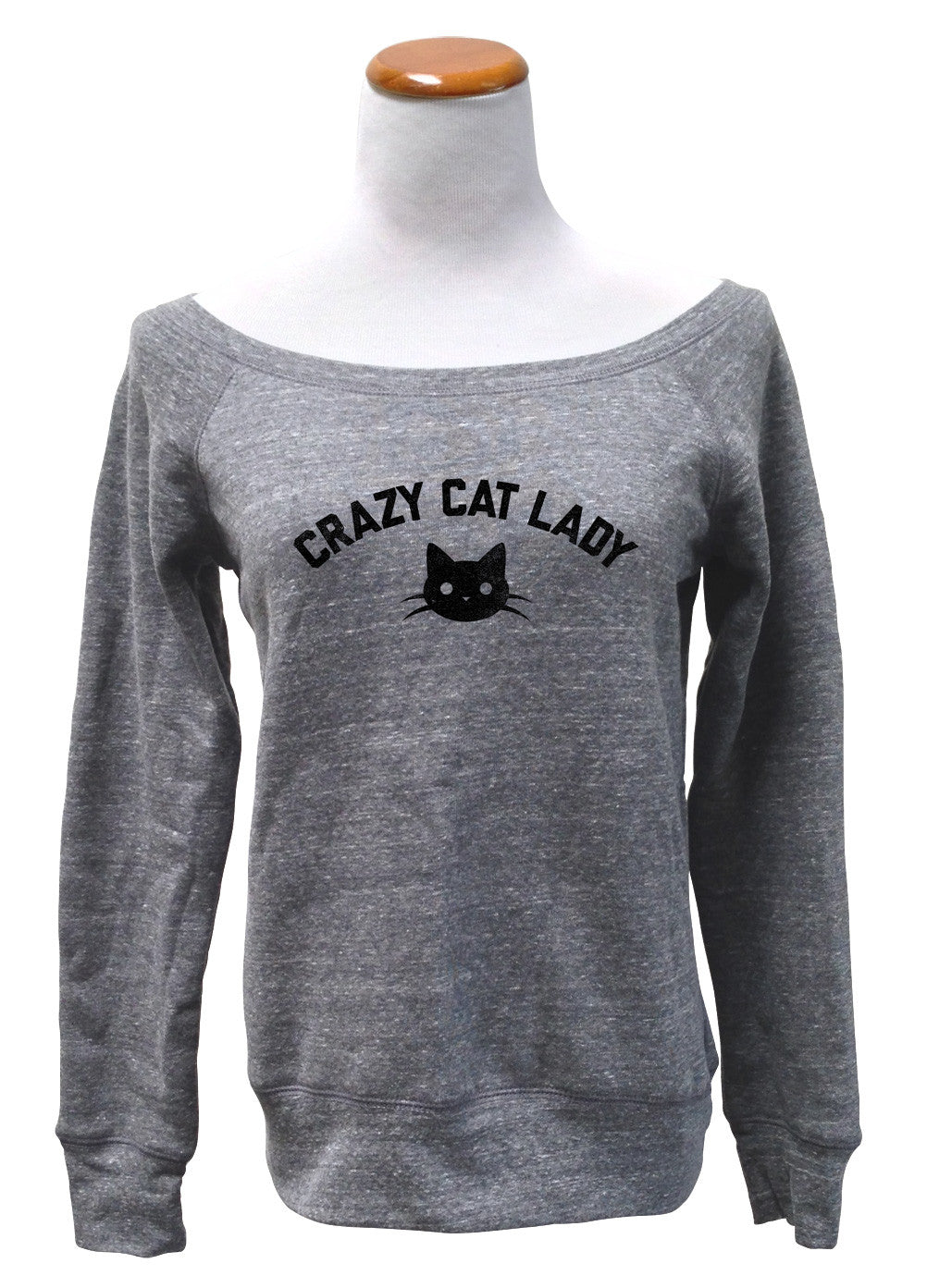 Women's Team Crazy Cat Lady Scoop Neck Fleece