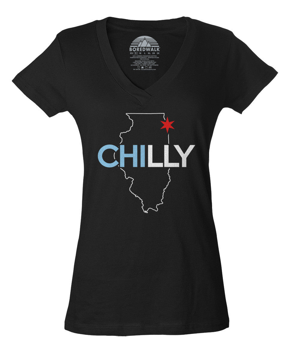 Women's Chilly Chicago Vneck T-Shirt