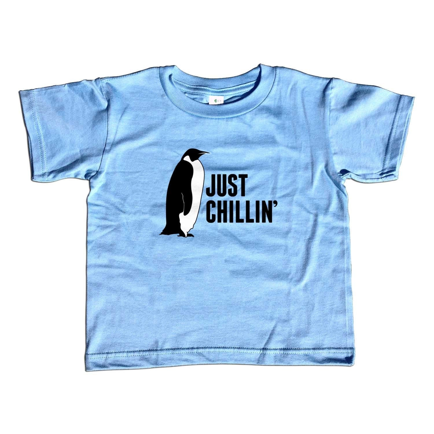 Girl's Just Chillin T-Shirt - Unisex Fit Cool Penguin Shirt