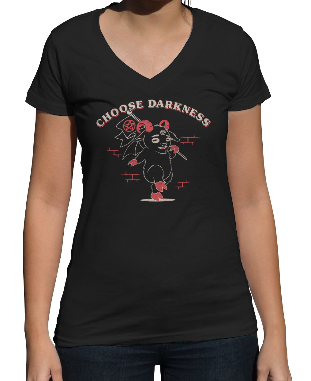 Women's Choose Darkness Vneck T-Shirt