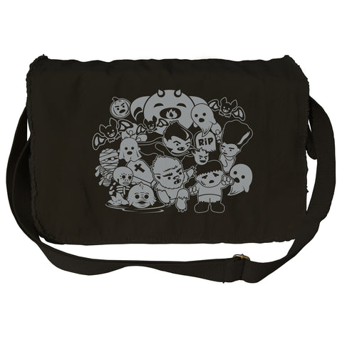 Classic Movie Monsters Messenger Bag - By Ex-Boyfriend
