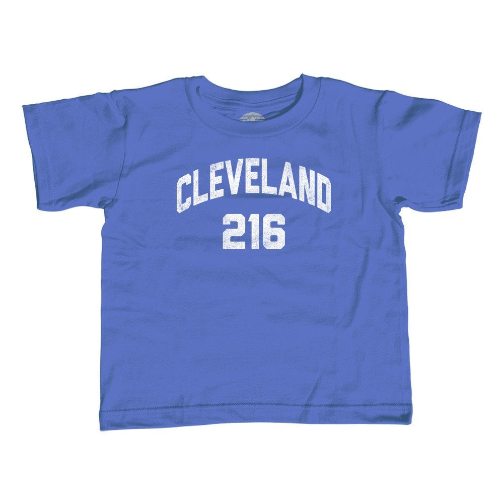 Girl's Cleveland 216 Area Code T-Shirt - Unisex Fit