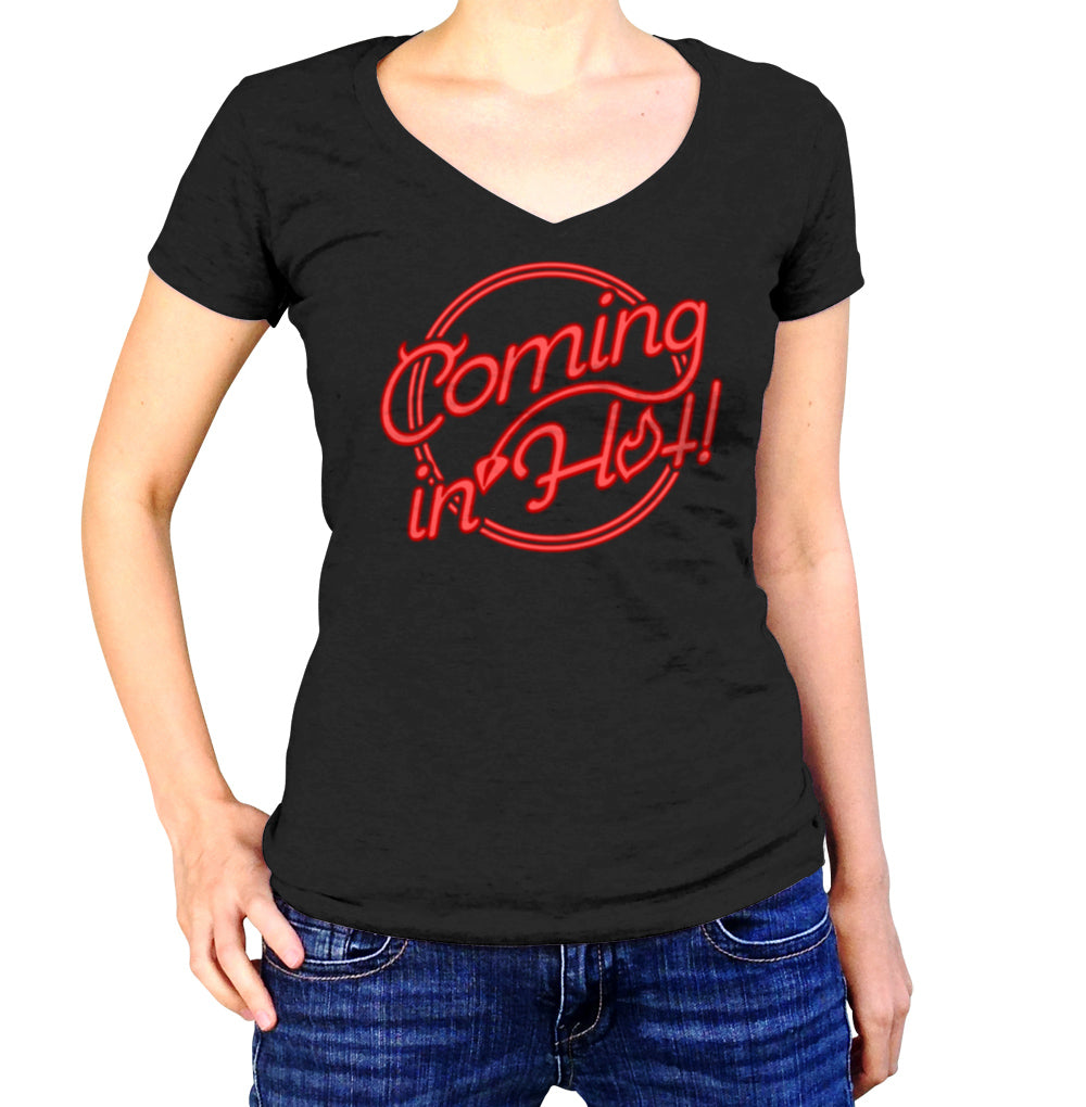 Women's Coming in Hot Vneck T-Shirt