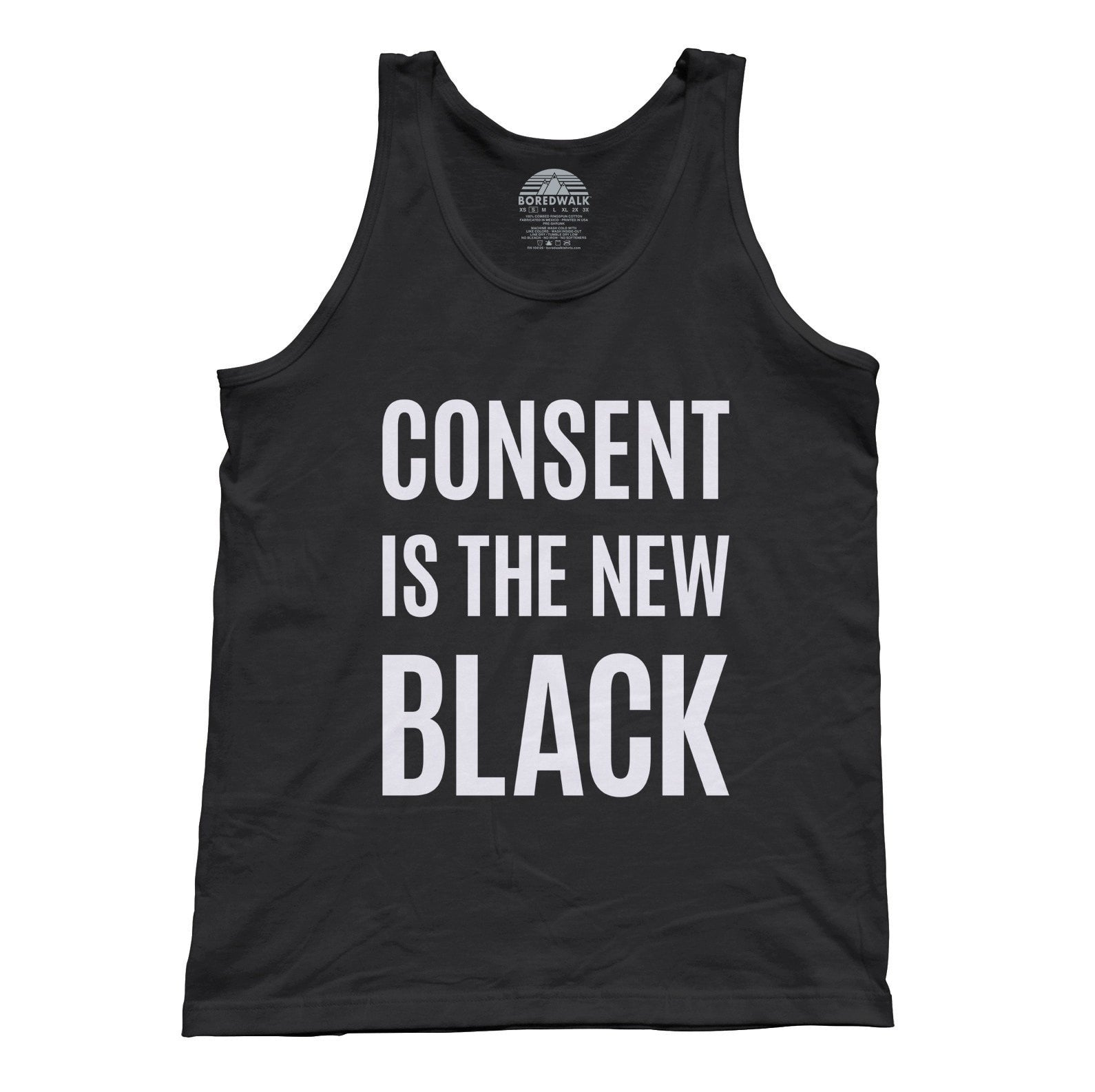 Unisex Consent is the New Black Tank Top