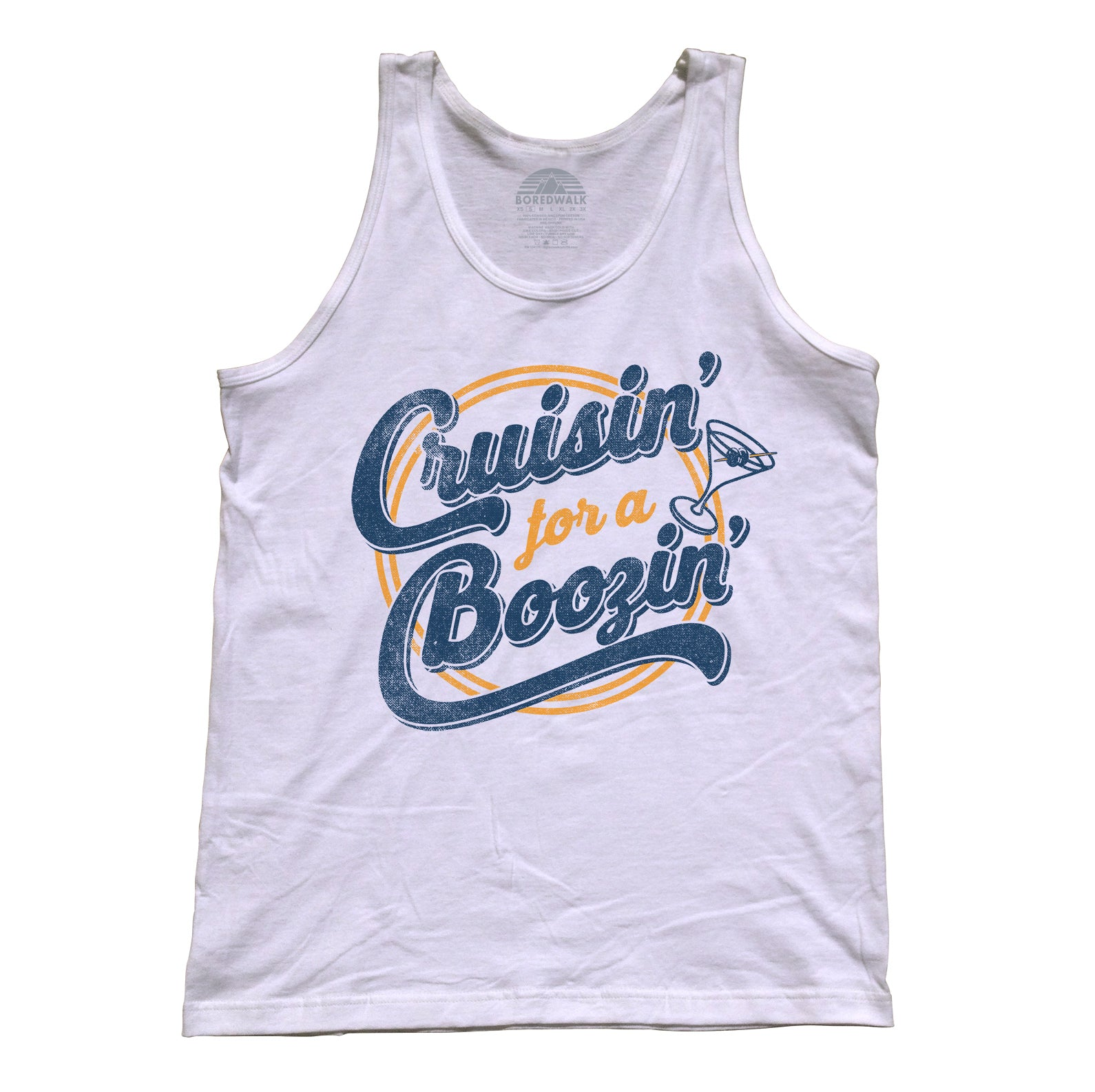 Unisex Cruisin for a Boozin Tank Top - Funny Drinking Shirt
