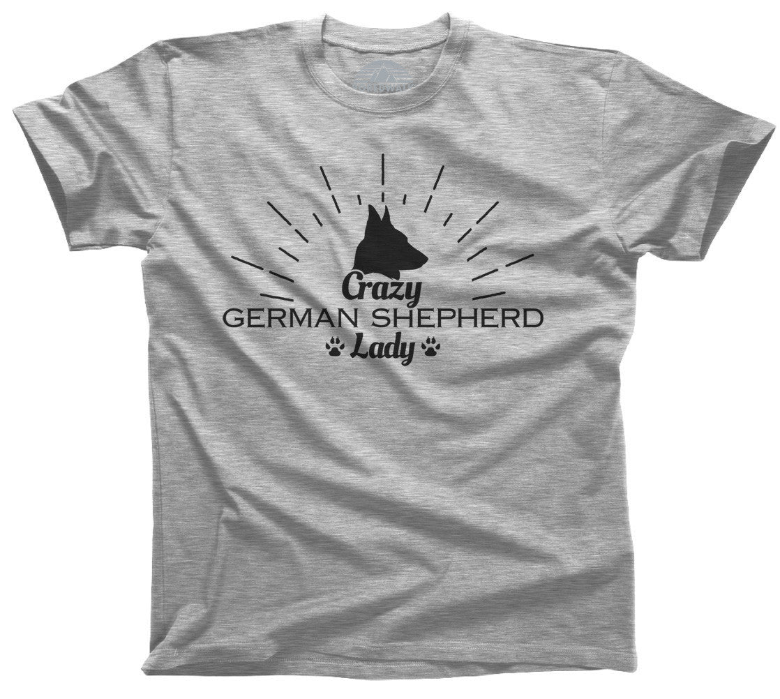 Women's Crazy German Shepherd Lady T-Shirt  - Relaxed Unisex Fit