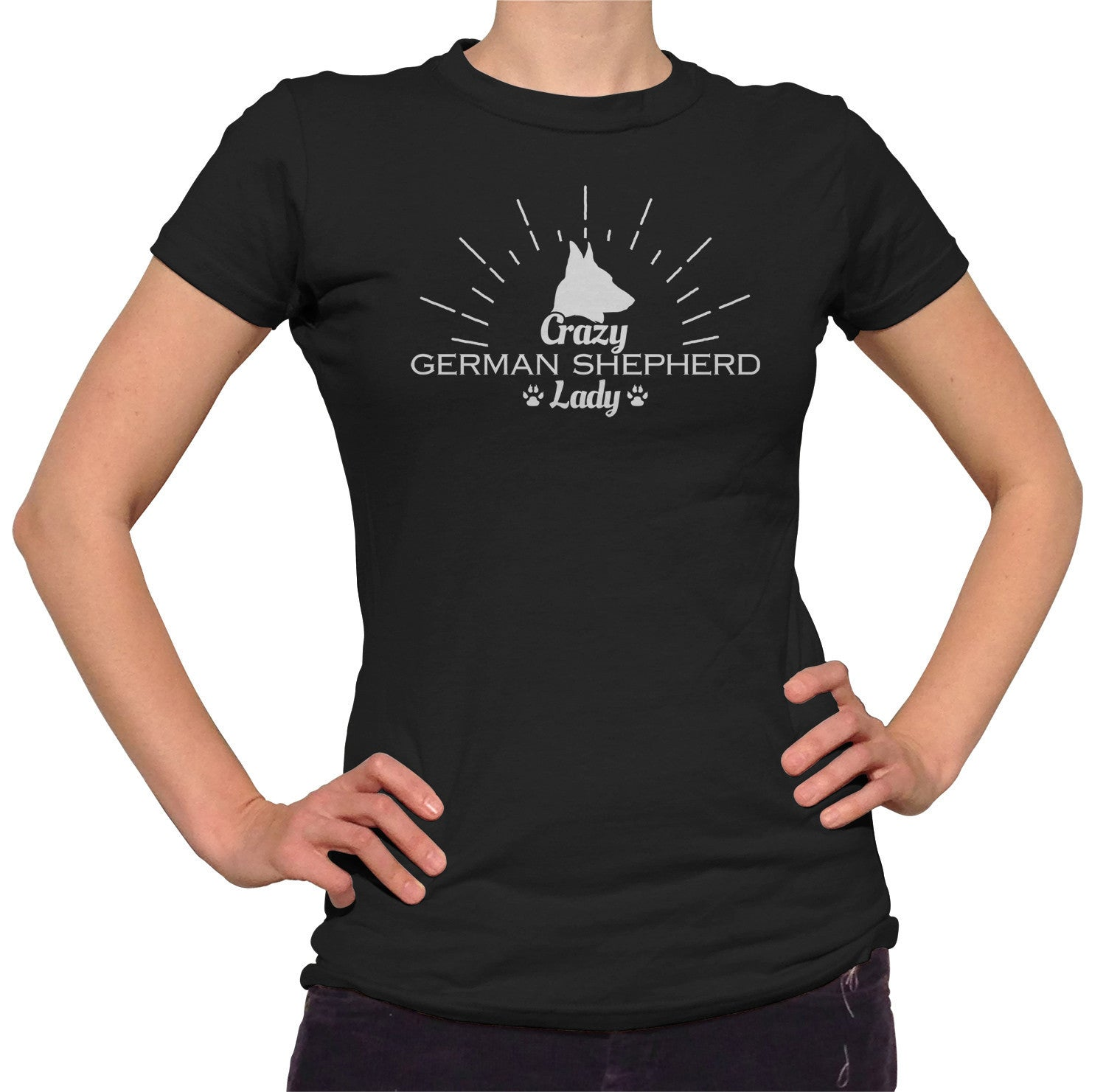 Women's Crazy German Shepherd Lady T-Shirt