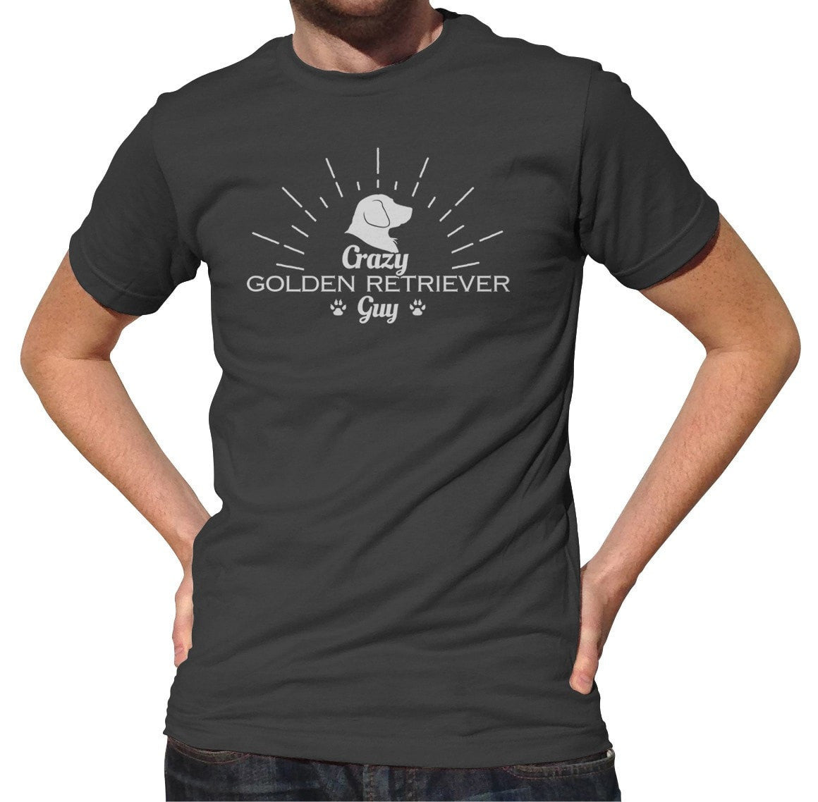 Men's Crazy Golden Retriever Guy T-Shirt