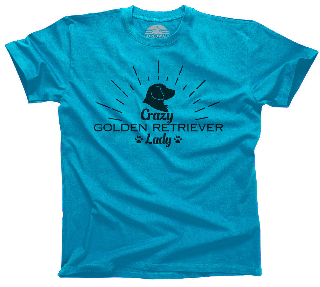 Crazy Golden Retriever Lady T-Shirt  - Relaxed Unisex Fit